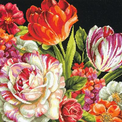 Kit petit point - bouquet floral