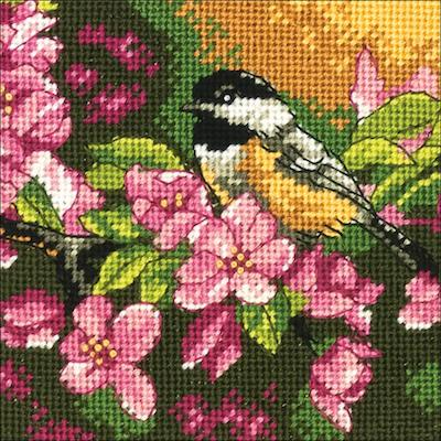 Kit petit point - la mésange