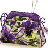 Kit point de croix - pansy pincushion