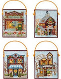Kit point de croix - winter village ornaments