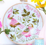 Love birds - broderie traditionnelle