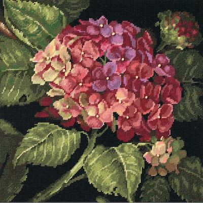 Kit petit point - Hortensias en fleur