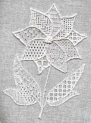 Pulled thread flower