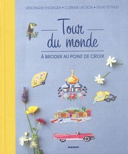 Tour du monde à broder au point de croix