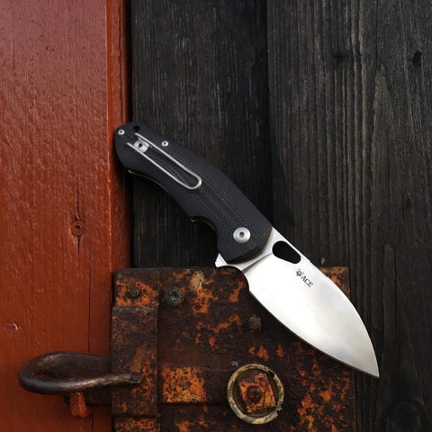 ACE Biblio - Black G10 - GiantMouse Knives - Anso Vox Collaborations