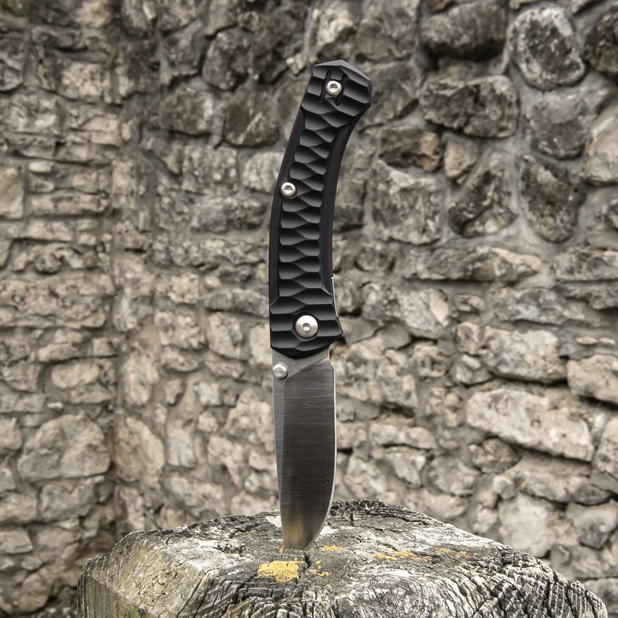 ACE Iona - Black / Satin Finish - GiantMouse Knives - Anso Vox Collaborations