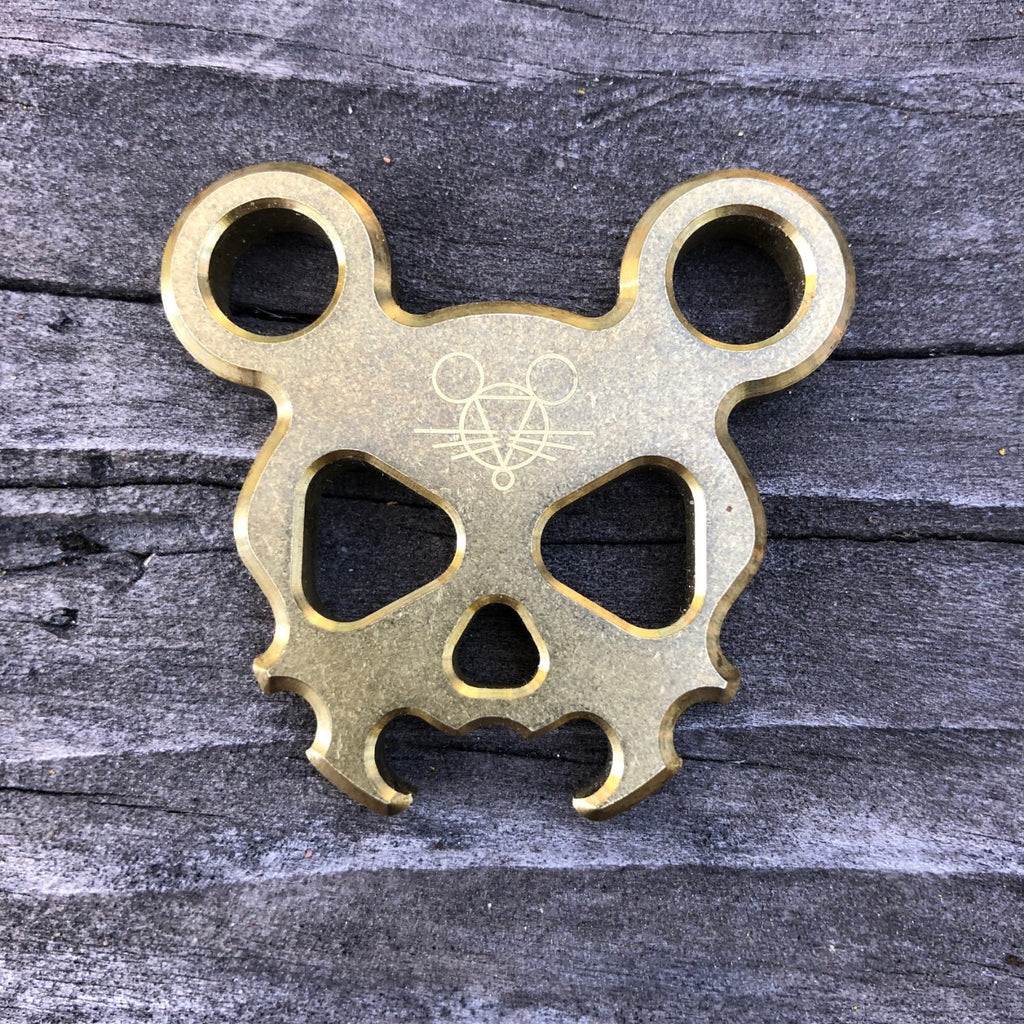 Morbid Mouse Mini - Brass - GiantMouse Knives - Anso Vox Collaborations
