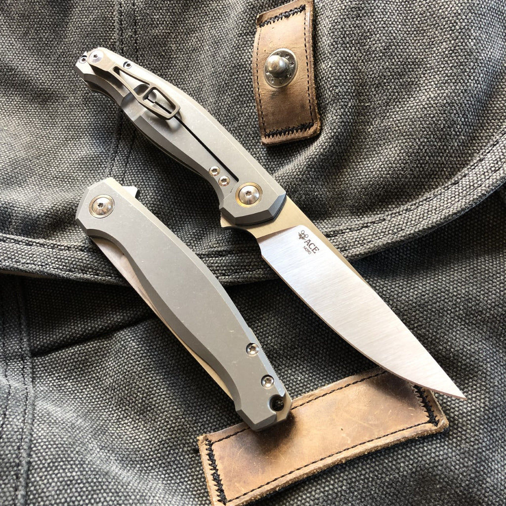 ACE Sonoma - Ti Satin - GiantMouse Knives - Anso Vox Collaborations