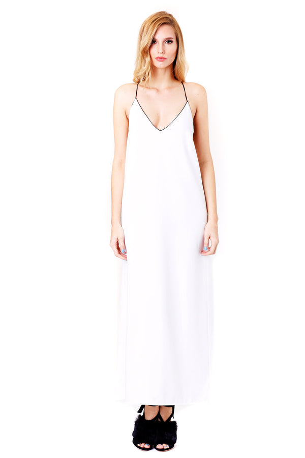 Adam Selman | Long Wrap Slip Dress | MCPOPS