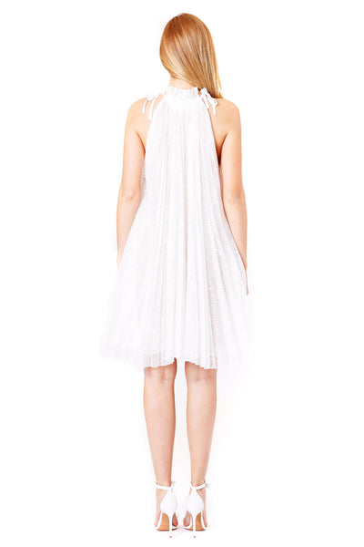 PLEATED TRAPEZE DRESS