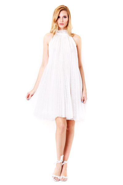 Adam Selman | Pleated Trapeze Dress | MCPOPS