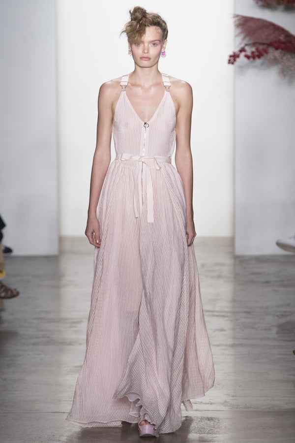 BLUSH LONG OVERALL GOWN
