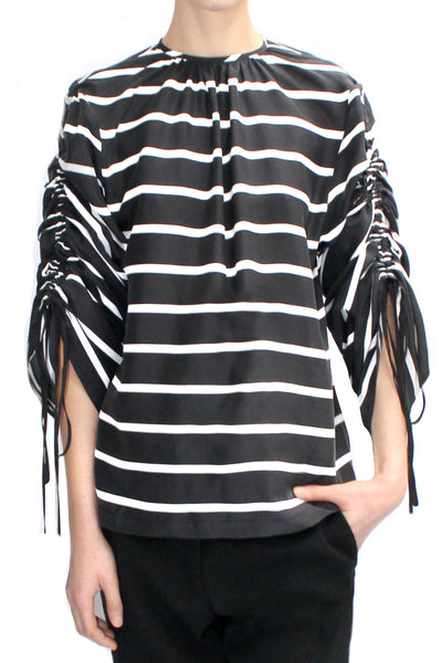 WILL STRIPED SILK TOP