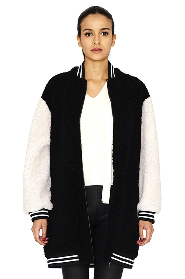 NEWZELAND SHEEP SKIN BOMBER