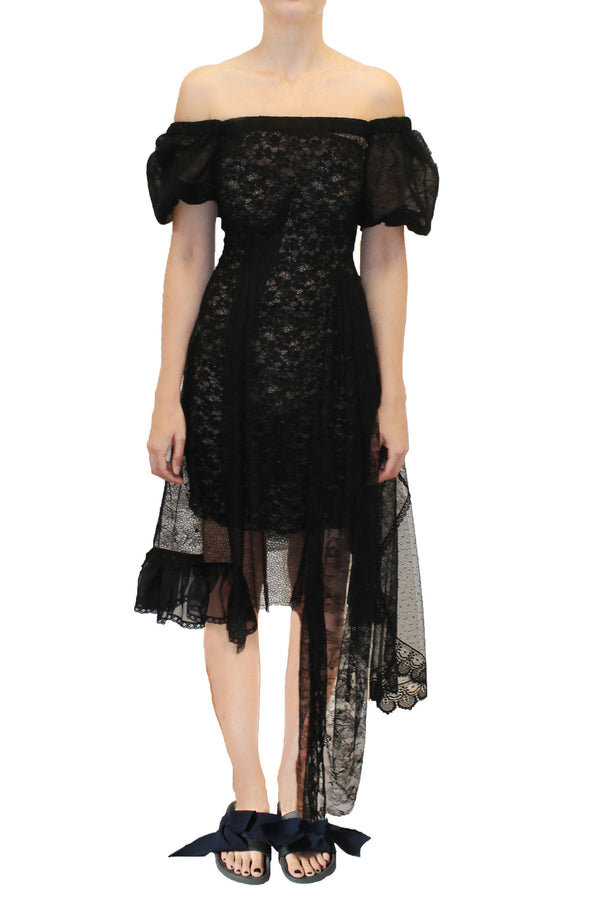 Preen By Thornton Bregazzi | Nokomis Black Lace Dress | MCPOPS