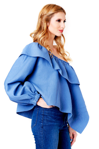 GEORGIA AZURE TOP
