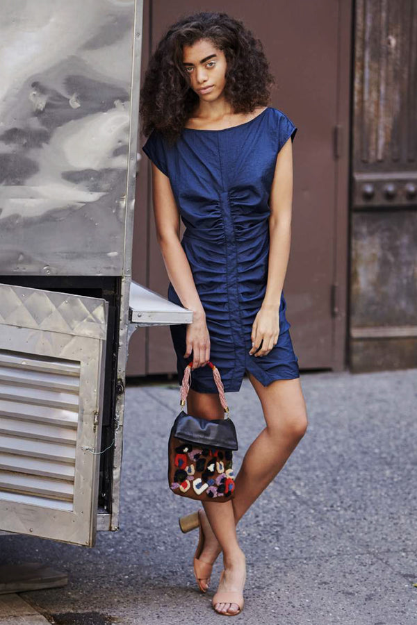 FLATLANDERS NAVY MINI DRESS