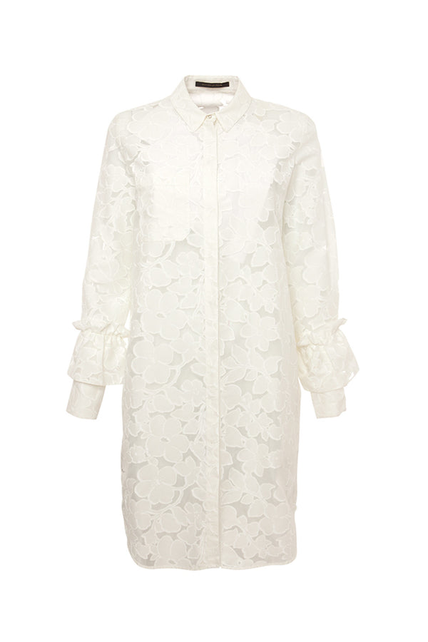 ZETTA DEVORE FLORAL SHIRT DRESS MOTHER OF PEARL MCPOPS