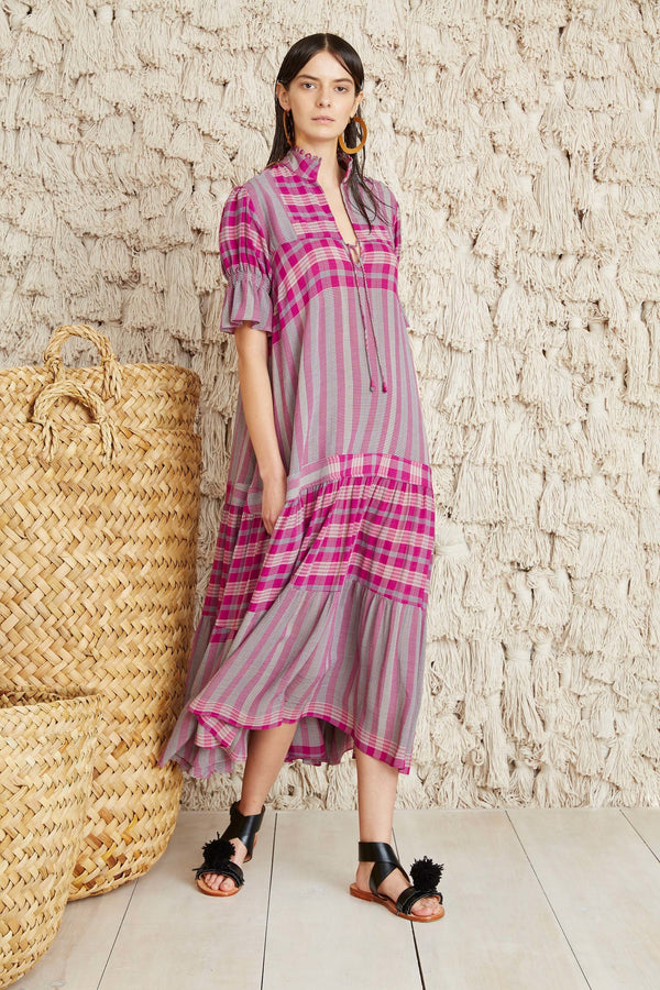 LOS ALTOS PLAID DRESS