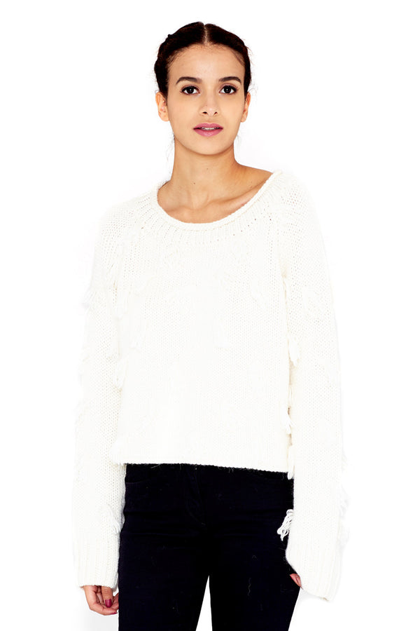 LULUC WHITE SWEATER
