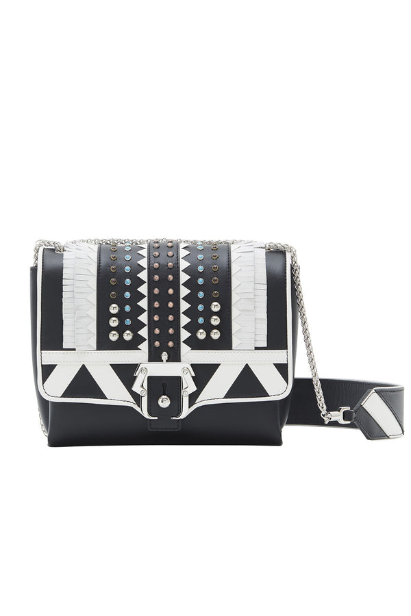 ALICE STUDDED LETHER SHOULDER BAG - PAULA CADEMARTORI - MCPOPS