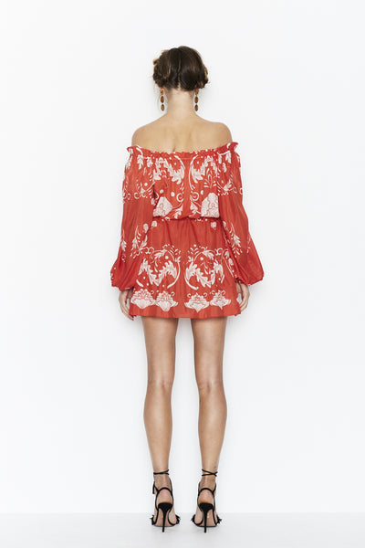 CAN'T DO WITHOUT YOU SCARLET BLOOM DRESS