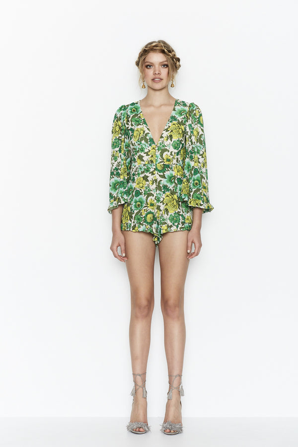 J'ADORE FOREST FLORAL PLAYSUIT