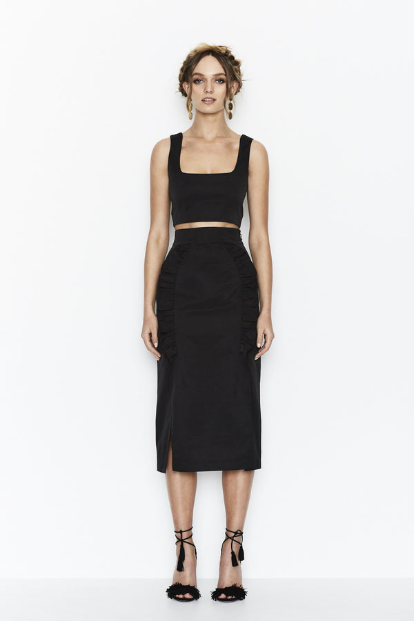 Alice McCall | Straight Shooter Black Top | MCPOPS