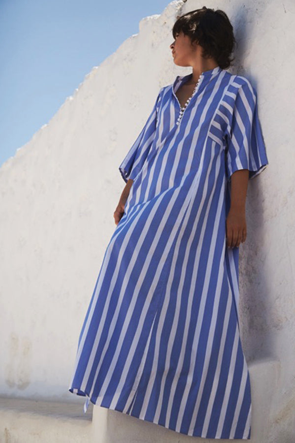 RACHEL STRIPED LONG KAFTAN