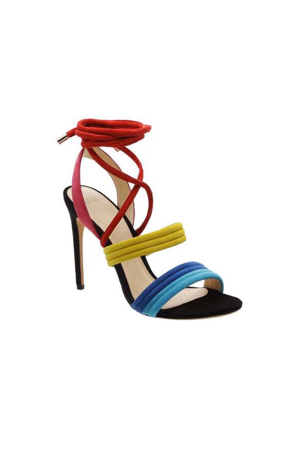 Alexandre Birman | Aurora Suede Sandals With Multicolor Ties | MCPOPS