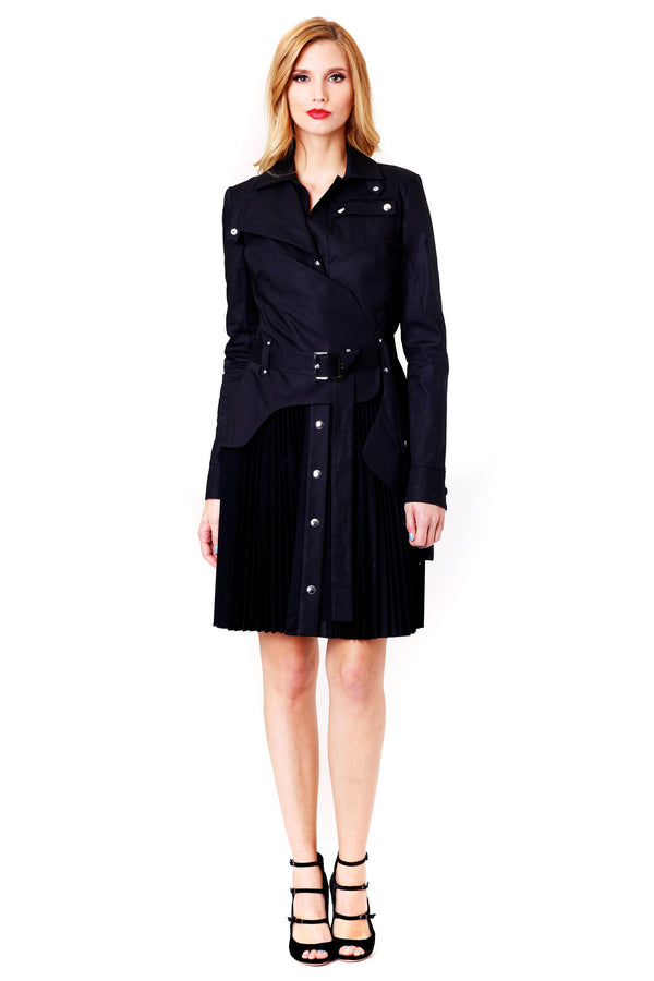 COAT STYLE BLACK DRESS ANTONIO BERARDI MCPOPS