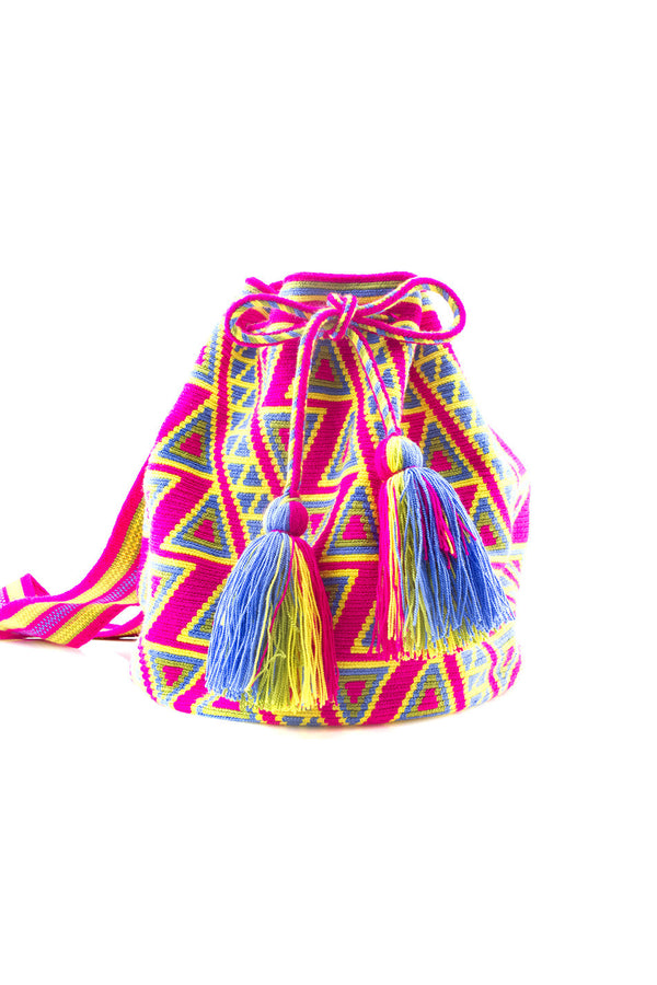 PINK TASSEL BEACHBAG