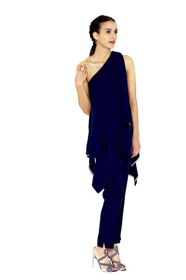 STRAIGHT LEG BLUE PANTS - ANTONIO BERARDI - MCPOPS