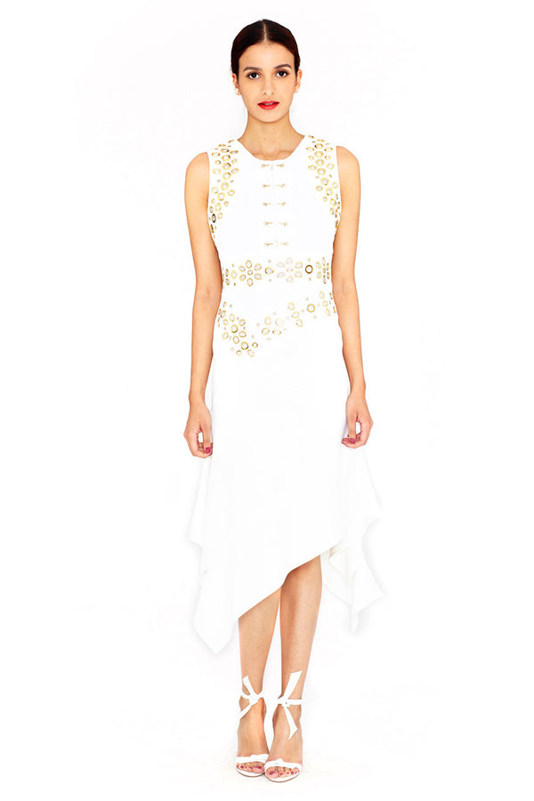 GROMMET EMBELLISHED DRESS - ANTONIO BERARDI - MCPOPS