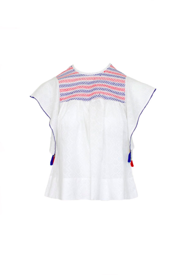 PALOMA WHITE COTTON TOP