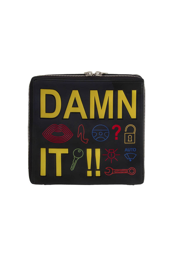 Yazbukey | Damn It!! Leather And Plexi Clutch | MCPOPS