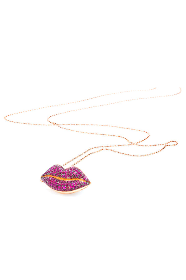 RUBY LIPS NECKLACE