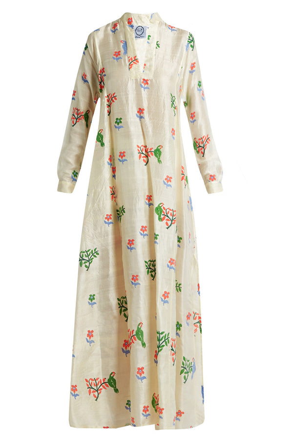 Thierry Colson | Parvati Floral Silk Long Dress | MCPOPS