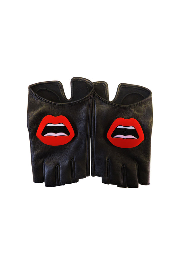 C'EST AHH LEATHER AND PLEXI GLOVES