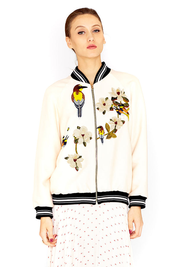 MIA - EMBROIDERED BOMBER JACKET - VILSHENKO - MCPOPS
