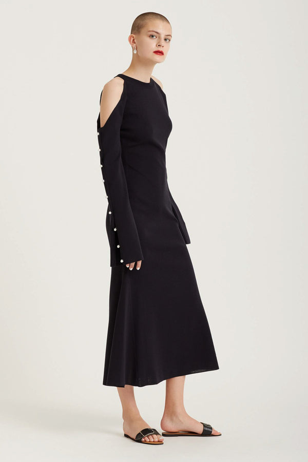 Goen.J | Cutout Shoulders Knit Dress | MCPOPS