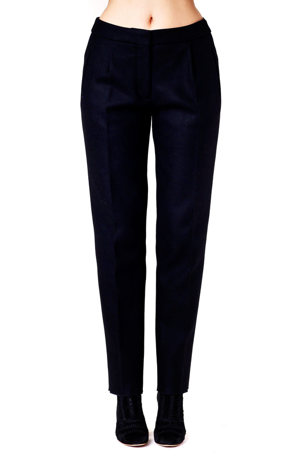 DELIA BLACK WOOL TROUSERS