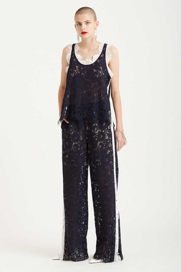 Goen.J | Corded Lace Track Pants with Side Slits | MCPOPS