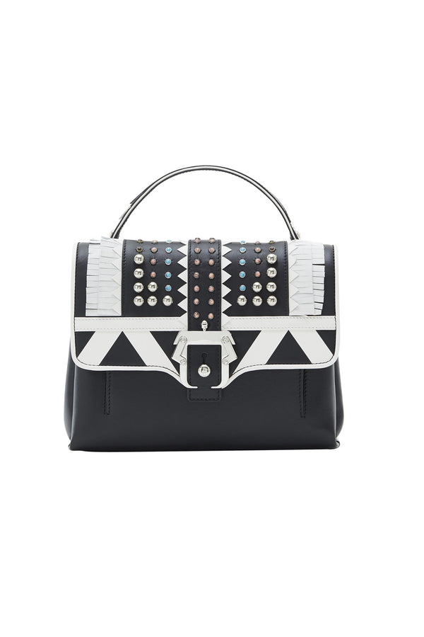 PETITE FAYE STUDDED LEATHER BAG - PAULA CADEMARTORI - MCPOPS