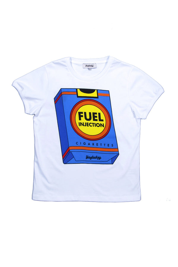 Yazbukey | Fuel Injection White T-Shirt | MCPOPS