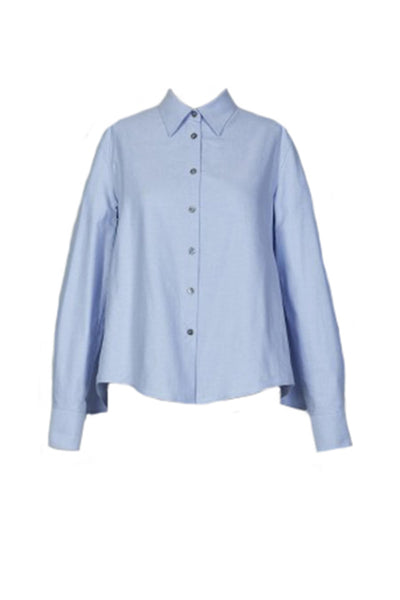 OXFORD SHIRT WITH SMOCKED BACK