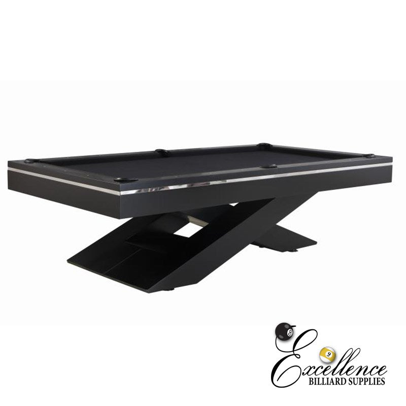 8' Galaxy Pool Table - Black - Excellence Billiards NZL