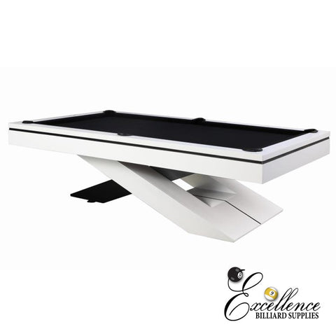 8' Galaxy Pool Table - White - Excellence Billiards NZL