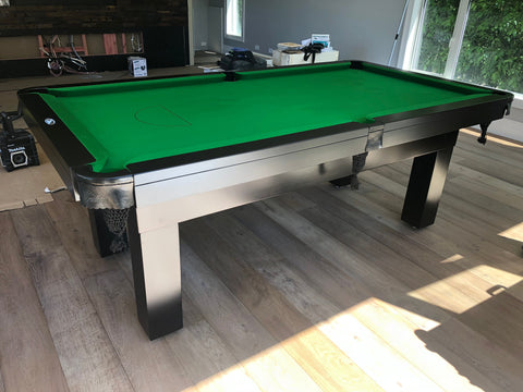 7' Liverpool Pool Table - Black - Excellence Billiards NZL