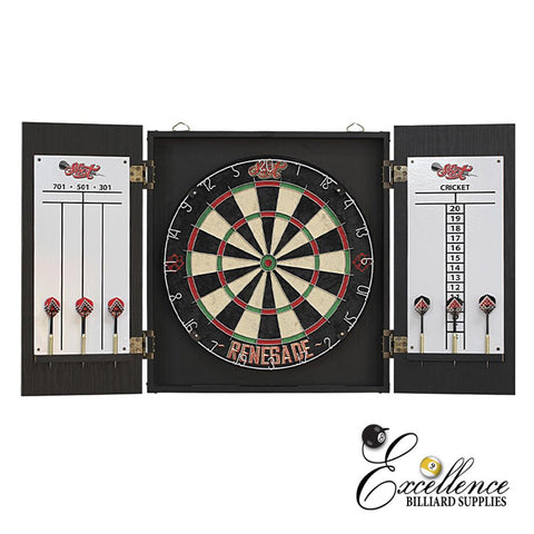 SHOT Renegade Dart Board + Cabinet set